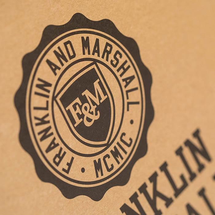 sacchetto personalizzato di carta avana
