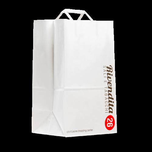 borse di carta bianca