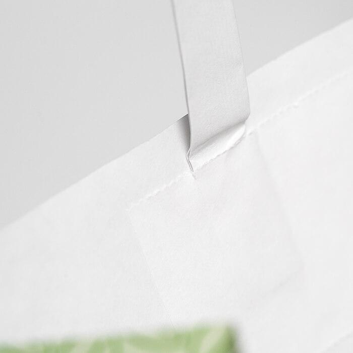 sacchetti bianchi con maniglia piatta