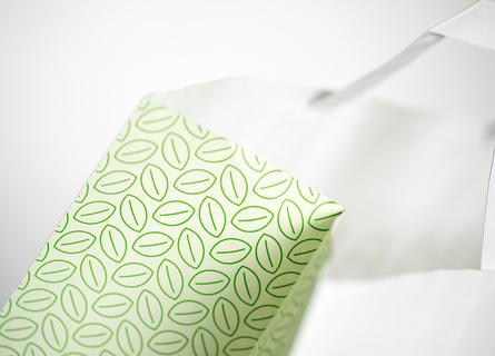 busta di carta con maniglia piatta