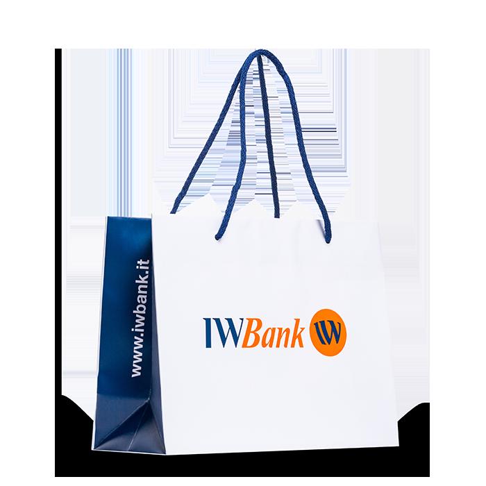sacchetto personalizzato bianco