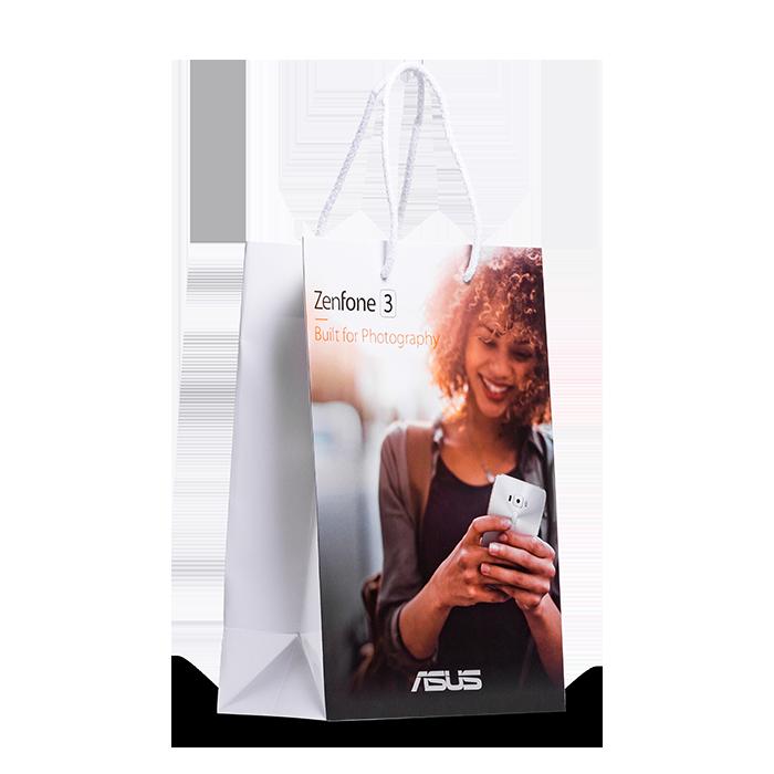 borsa personalizzata di plastica lucida
