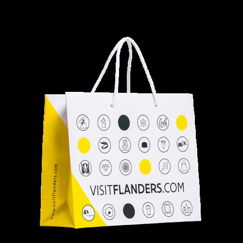 sacchetto di carta plastificata visit flanders